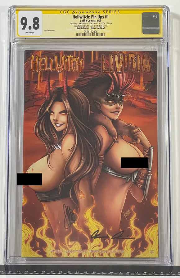 CGC 9.8 SS Hellwitch Pin Ups #1 Duality Edition Artist Proof (Lividia)