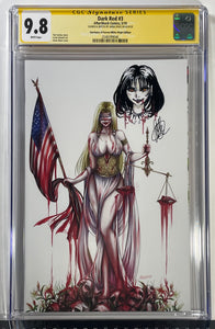CGC 9.8 SS Dark Red #3 (White) Remarqued