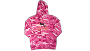 Pink Camouflage Pullover Hooded Sweatshirt