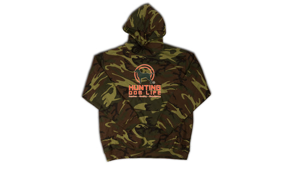 Green Camouflage Pullover Hooded Sweatshirt