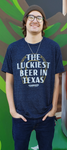Luckiest Beer Shirt Navy