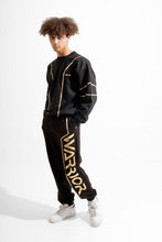 Load image into Gallery viewer, Warriör sweatshirt with lazercut gold logo