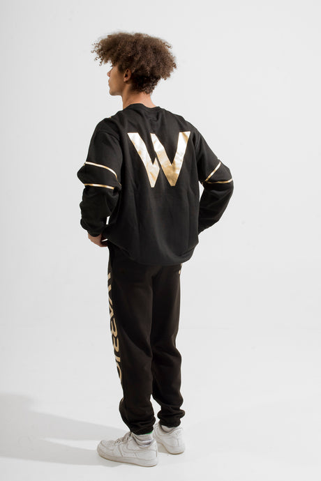Warriör sweatshirt with lazercut gold logo