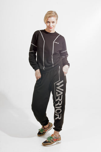 Warriör sweatpants with lazercut reflective logo