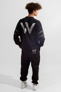 Warriör sweatshirt with lazercut reflective logo