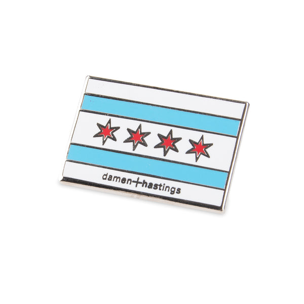 city of chicago flag pin