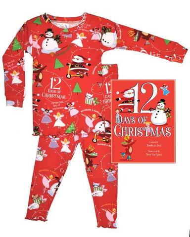 12 Days of Christmas Girls (Pajamas & Coloring Book)