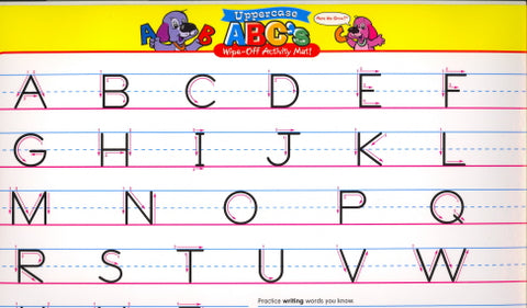 ABC's Wipe-Off Activity Mat!
