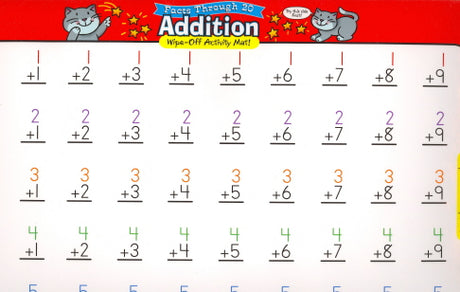 Addition Wipe-Off Activity Mat! (Facts Through 20)