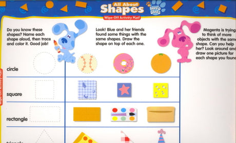 All About Shapes Wipe-Off Activity Mat! (Blue's Clues)
