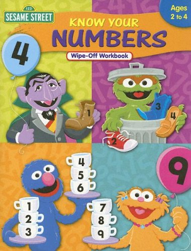 Know Your Numbers Wipe-Off Workbook (Sesame Street)
