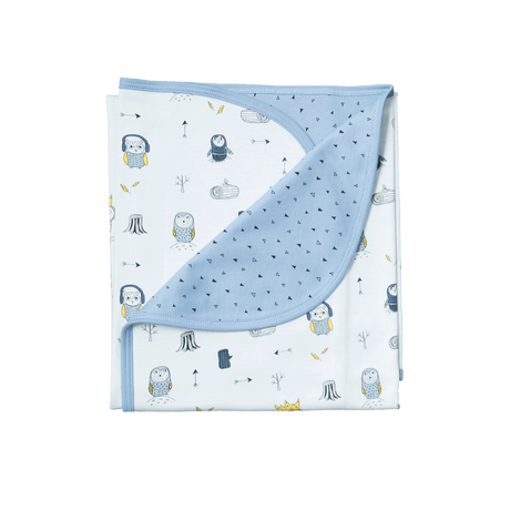 BLUE OWLS DOUBLE LAYER BLANKET