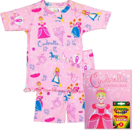 Cinderella Short Johns (Pajamas & Coloring Book)