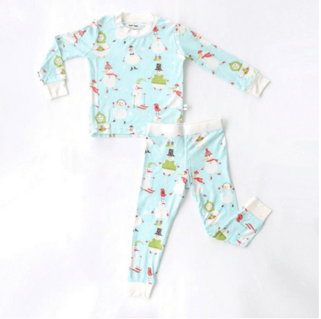 Snowman Two-piece Bamboo Pajama Set