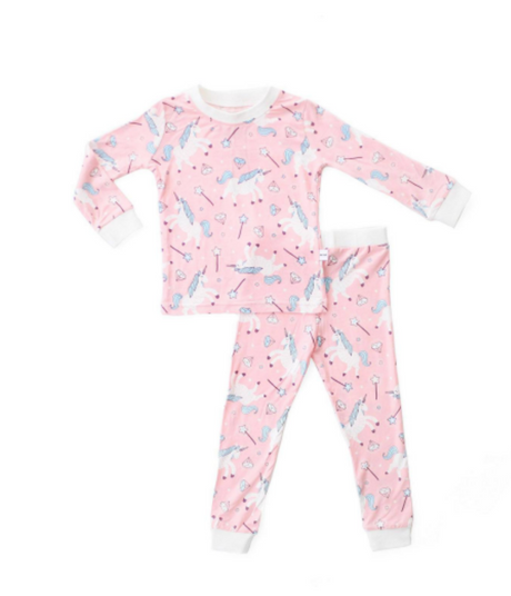 Unicorn Two-piece Baby & Toddler Bamboo Pajama Set