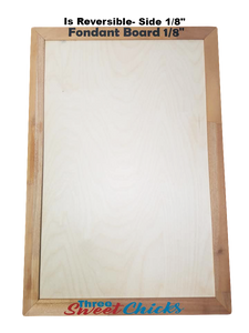 "Large 11""x 17"" Fondant Board, Dual Sided:  1/16"" & 1/8"" Thicknesses"