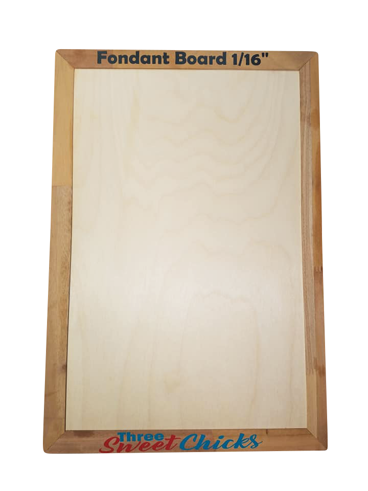 "Mini 6"" x 10"" Fondant Board,  Dual Sided:  1/16"" & 1/8"" Thicknesses"