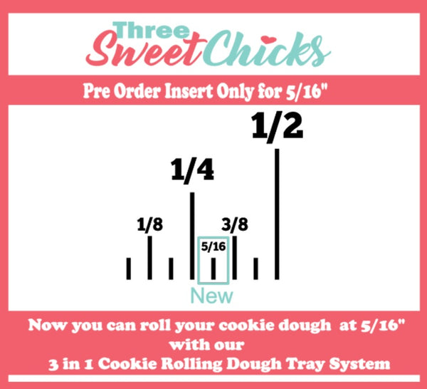 "3 in 1 Cookie Rolling Dough Tray System Roll at 1/2"", 3/8"", 1/4"""