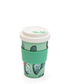 Cactus Pattern Reusable Plant Fibre Coffee Cup- 400ml