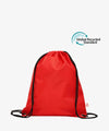 Red Drawstring rPET Gym Bag