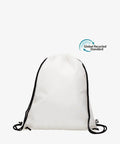 White Drawstring rPET Gym Bag