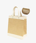 Jute Market Tote with Cotton Trim