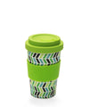 Chevron Pattern Reusable Plant Fibre Coffee Cup- 400ml