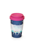 Bird Pattern Reusable Plant Fibre Coffee Cup- 400ml