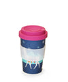 Llama Pattern Reusable Plant Fibre Coffee Cup- 400ml