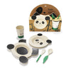 Ecofriendly Children's Bamboo Dinner Set - Bowl Plate Fork Spoon Cup - Gift Set