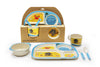 Eco-friendly Children's Bamboo Dinner Set- Beach Design