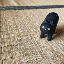Load image into Gallery viewer, Pole Pole Wooden Animal Black Cat