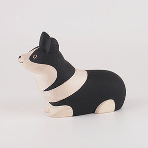 Pole Pole Wooden Animal Corgi