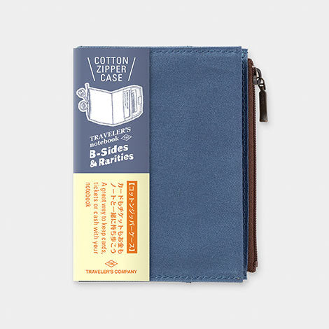 TRAVELER'S notebook B-Sides & Rarities Cotton Zipper Case Passport Size Blue