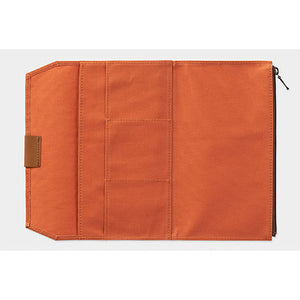 TRAVELER'S notebook B-Sides & Rarities Cotton Zipper Case Regular Size Orange