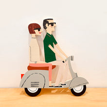 Load image into Gallery viewer, Wood Decoration Egurrak 16 Vespa