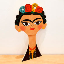 Load image into Gallery viewer, Wood Decoration Egurrak 29 Frida