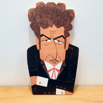 Wood Decoration Egurrak 45 Bob Dylan