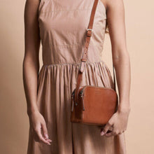 Load image into Gallery viewer, Emily - Eco Stromboli Cognac (Leather Strap)