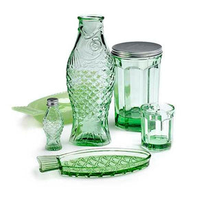 Glass Green S Fish & Fish (set of 4)