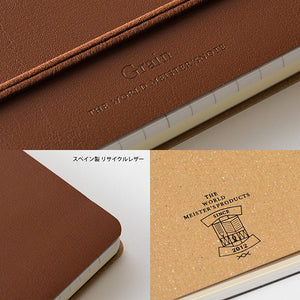 WM Ring Notebook Grain B6 Variant Dark Brown