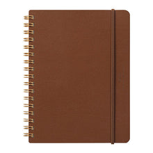 Load image into Gallery viewer, WM Ring Notebook Grain B6 Variant Dark Brown