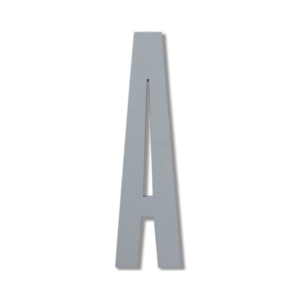 Wooden Letter A Grey