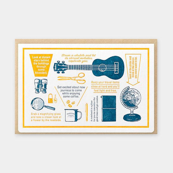 Letterpress Card Blue (Limited Edition)