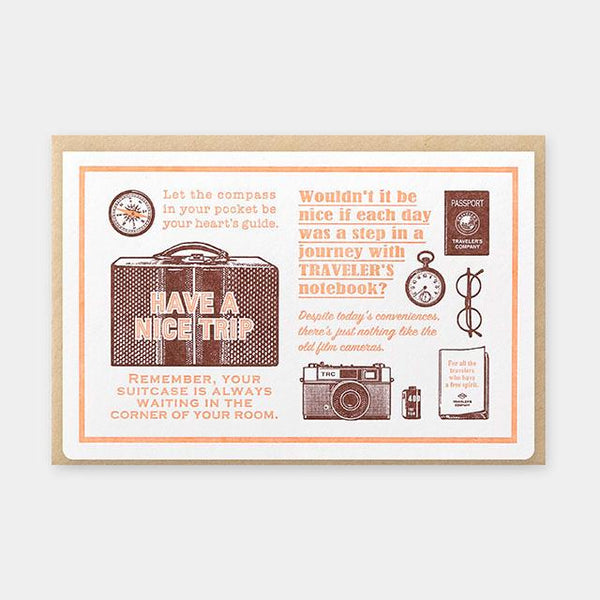 Letterpress Card Brown (Limited Edition)