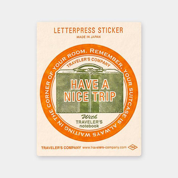 Letterpress Sticker Red (Limited Edition)