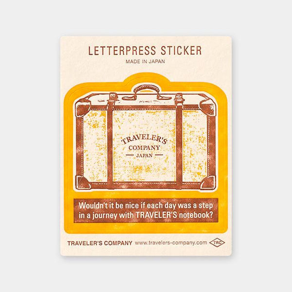 Letterpress Sticker Yellow (Limited Edition)