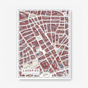 Madrid Map - Lavapiés