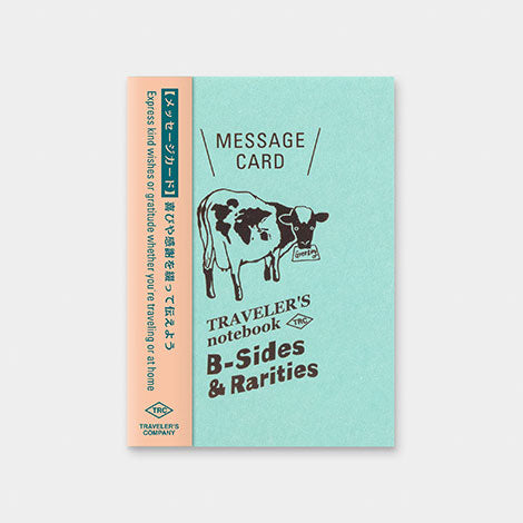 TRAVELER'S notebook B-Sides & Rarities Refill Message Card Passport Size