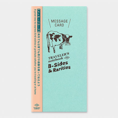 TRAVELER'S notebook B-Sides & Rarities Refill Message Card Regular Size